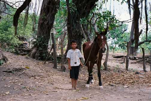 Boy and horse, Isla Ometepe