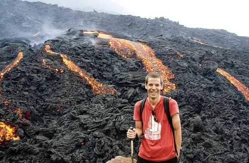 Me and the volcano