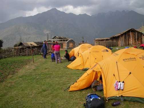 31/3 Camp site at Nashing Dingma (2,600m)