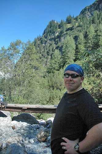 Scott before the big climb