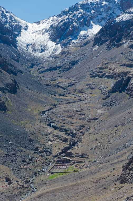 Approaching Toubkal basecamp