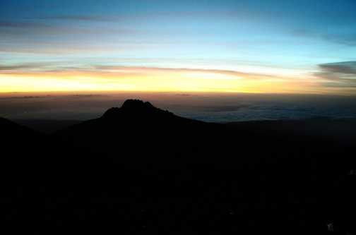 Sunrise at Stella Point over Mawenzi