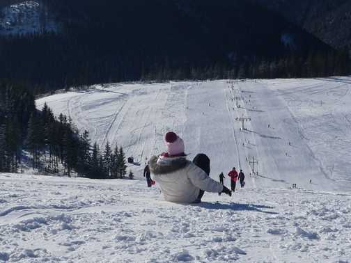 Flying down the slopes