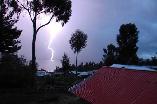 Night storm on Amantani Island
