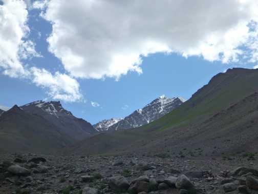 View of Stok Kangri from Mankarmo campsite