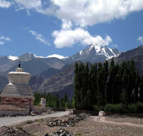 Looking back to Stok Kangri from Stok village