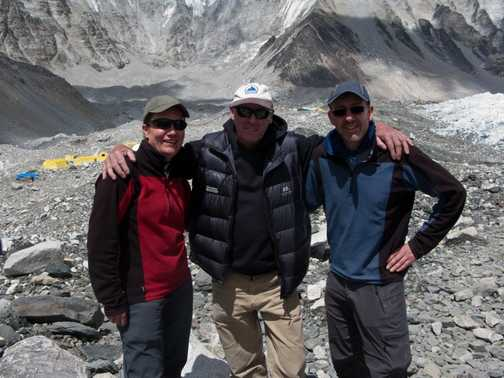 Meeting Russell Brice at Everest base camp