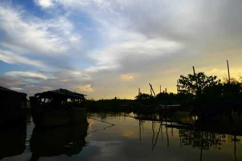 Sunset on the River, Chau Doc, Vietnam