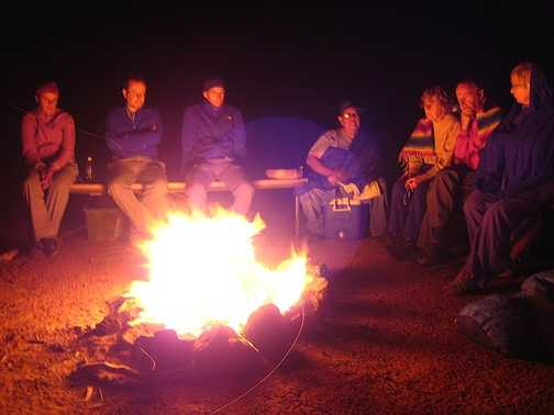 campfire with the Navajo