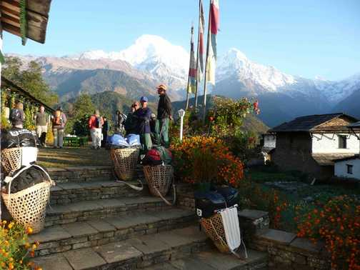 Leaving Himalaya Lodge