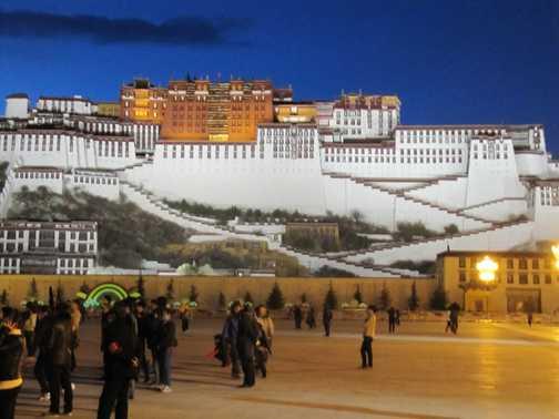 Potala Palace Lhasa at night
