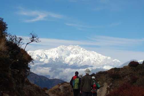 Kanchenjunga view, walking from Sandakphu to Sabargam , Singalila Ridge