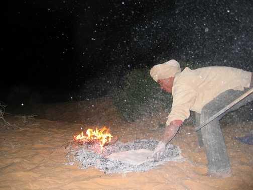 Making of Saharan Bread