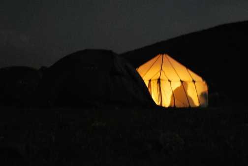 The illuminated tent