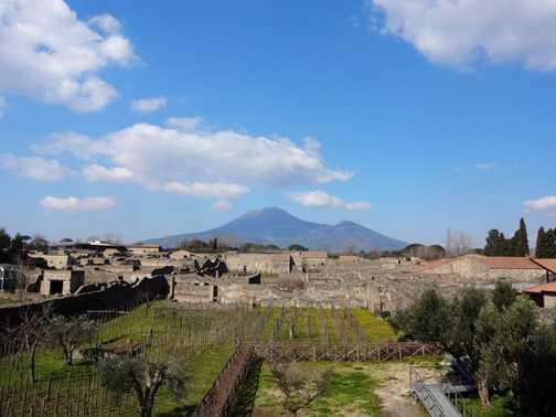 View of Vesuvio from Pompeii