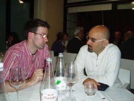 Karl and Dario in deep conversation