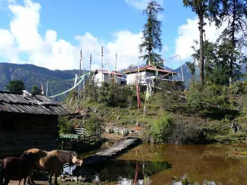 The view as we left Tsokha Campsite