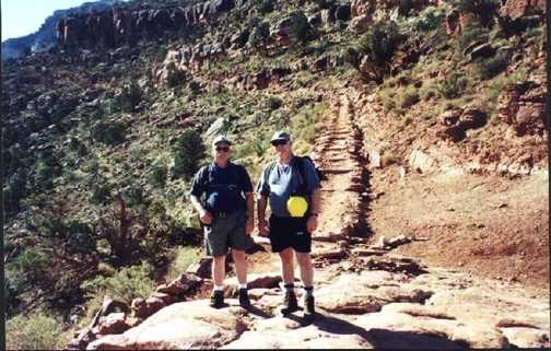 Bill and Brian on the South Kaibab Trail.