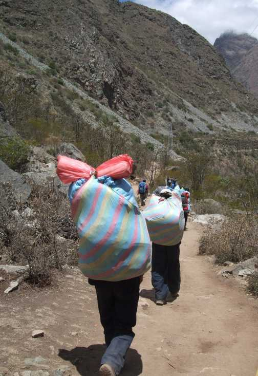First sight of the porters!
