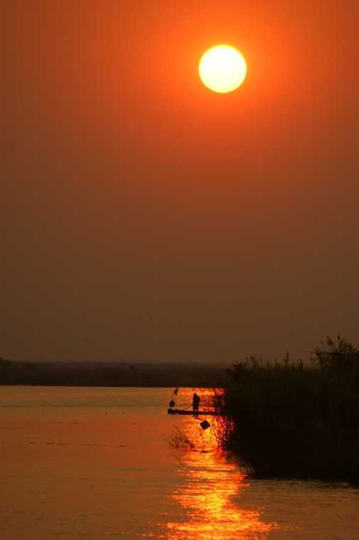 sunset on the Chobe