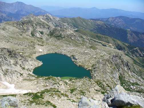 Lac Bastiani taken from top of Monte Renoso