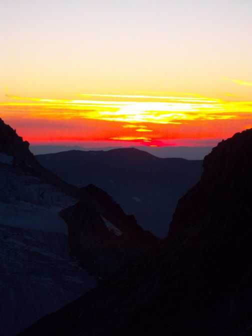 sunset from Trient