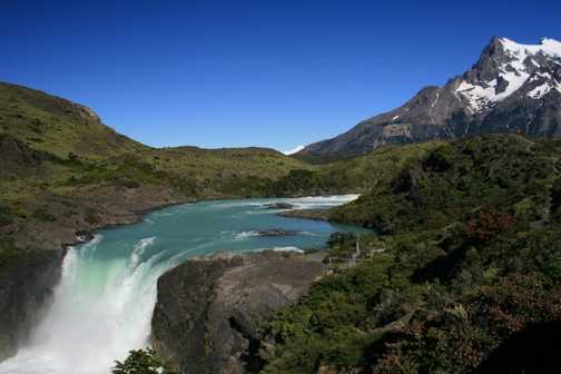 Waterfall, Torres del Paine