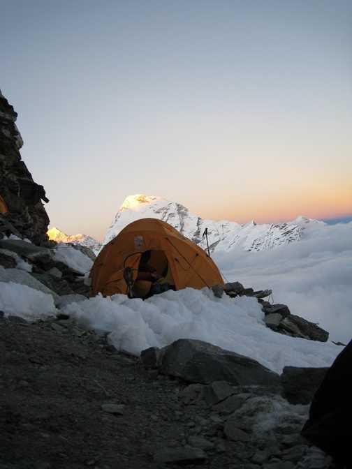 Summit of Mera - Everest to the left