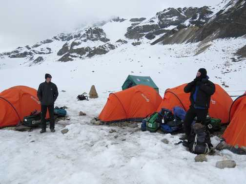 Settling in to High Camp 5400m