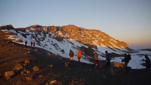 Day 7. The last 'little' climb to  the summit, Uhuru