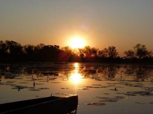 One of many fabulous sunsets