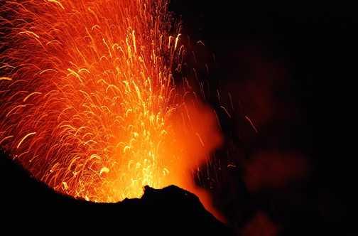 Stromboli Erupts