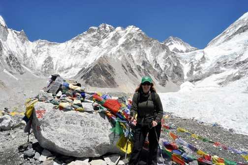 I made it - Everest base camp !