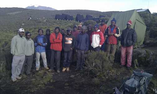The porters and guides and cooks