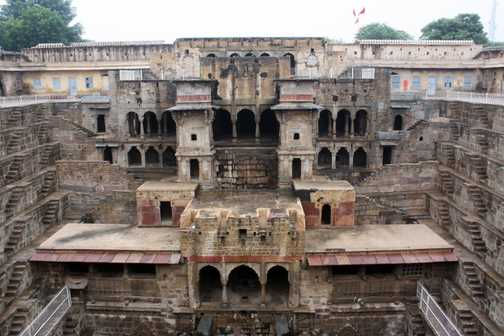 Step well in a village between Jaipur and Agra