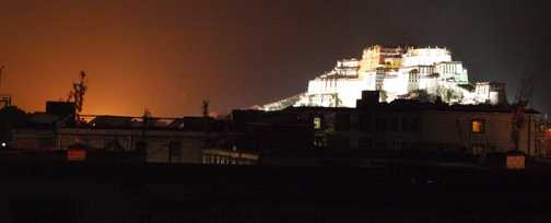 Potala Palace after dark