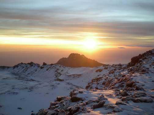 Sunrise Kili Feb 09