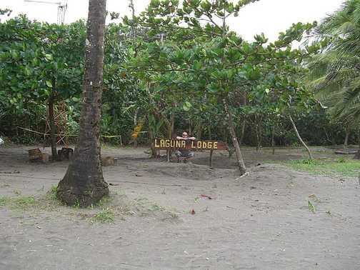 The beach at Laguna Lodge, Tortuguero - Day 1