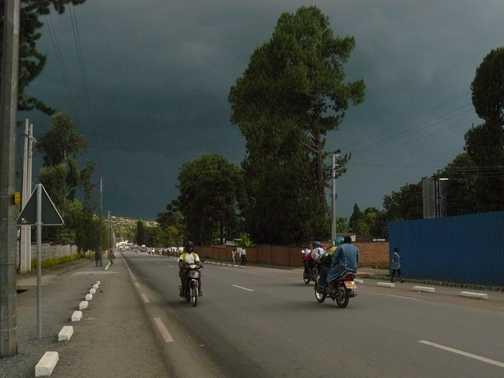 Rush hour traffic in Kigali