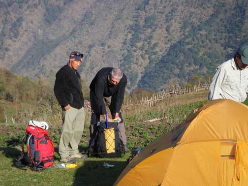 1/4 Ngima, our sherpa leader and PJ