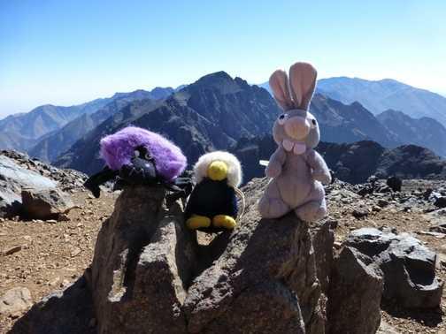 Remembering Toubkal climb while sitting atop Ounakrim