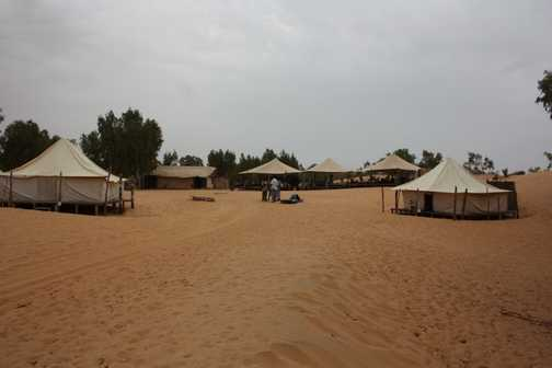 Desert encampment at Lompoul