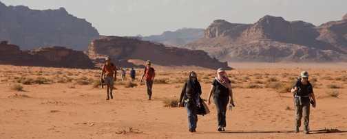 Hiking in Wadi Rum