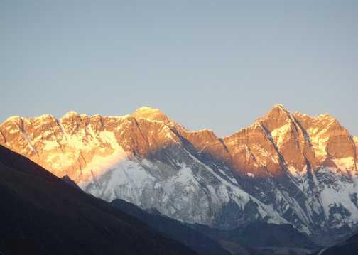 Sunset on Everest from Tengboche
