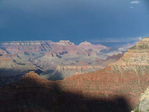 Grand Canyon after thunderstorm