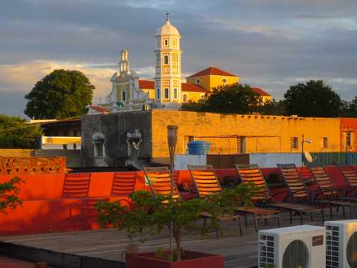View from rooftop terrace of our hotel in Cuidia Bolivar