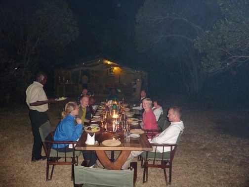 dinner at kicheche