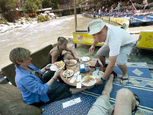 Eating in the Saklikent Gorge