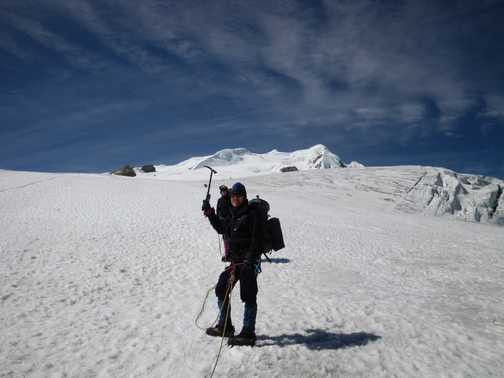 9/4 Ron en route to High Camp