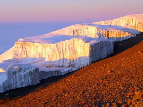 Glacier at sunrise